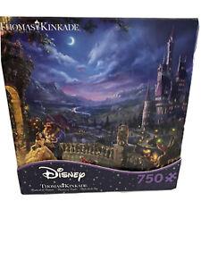 Disney Beauty And The Beast Thomas Kinkade Ceaco 750 Piece Jigsaw Puzzle