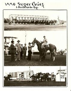 """1940 - Arkansas Derby Winner - SUPER CHIEF - 3 Photo Composite - 8"""" x 10"""""""