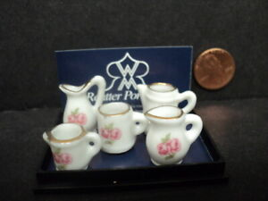 DOLLHOUSE PITCHER SET- ROSE