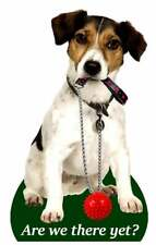 TRI COLOUR JACK RUSSELL AIR FRESHENERS X 2 FOR YOUR CAR HOME LONG LASTING FRAG