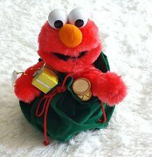 Christmas Talking Sesame Street Elmo Christmas Tickle In Tummy 11 inches
