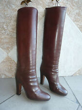 "Bottes Vintage  B.  ""Marron fauve""    STEPHANE  KELIAN    ---   T .  36,5"