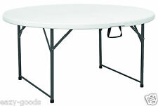 5FT ROUND FOLDING TABLE CATERING BANQUET GARDEN PARTY OFFICE- NEXT DAY DELIVERY