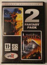 DARK ANGAEL + WARRIOR KINGS BATTLES PC CD-ROM FANTASY TWIN GAME PACK brand new!