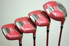 NEW LADIES PINK DRIVER 1 3 5 7 WOMEN WOOD SET LADY FLEX SHAFT HOT GRIPS WOMENS