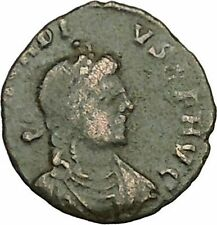 Arcadius crowned by Victory 385AD Rare Authentic Ancient Roman Coin  i40384