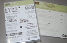 Stampin Up B.Y.O.P. Graduation, Baby, Thank You w/Gift Card Envelope Dies Bundle