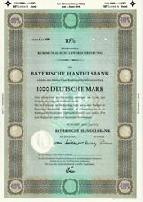 Bayerische Handelsbank, Schuldverschreibung, 1000 DM-10.6/1974, Blankette