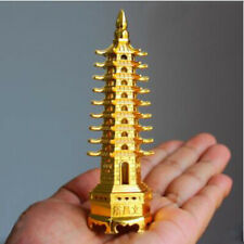 3D Metal Feng Shui Model Chinese Wenchang Pagoda Tower Crafts Statue Stand MP