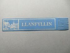 Leather BOOKMARK Wales Llanfyllin Powys WELSH Town Scene Blue