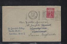 SARAWAK POSTAL HISTORY (P1509B)COVER 1947 8C TO ENGLAND, FORWARDED