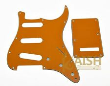 St Strat Sss Pickguard, Trem Tremolo Cover w/ Screws Pure Orange for Fender