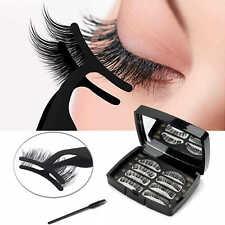 Magnetische Wimpern Falsche Eyelashes 3D Wimpernverlängerung Kein Kleber 4 Paar
