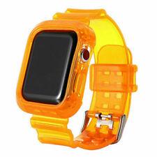Correa de banda caramelo claro Sport TPU caso para Apple Watch se iWatch serie 6 5/4/3/2