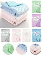 Newborn Baby Solid Blanket & Swaddling Thermal Soft Fleece Blanket Bedding Quilt
