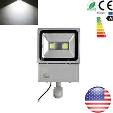 100W Cool White LED PIR Motion Sensor Outdoor Garden Flood Light Lamp IP65