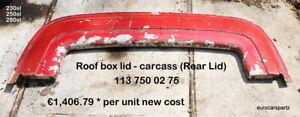 Mercedes 230sl 250sl 280sl Pagoda Roof box lid - carcass 113 750 02 75 113 #1