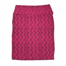 LuLaRoe Cassie Pencil Skirt Womens Size XL (18-20) Pink Black MSRP $35 NWT