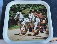 Tetley Bitter - 1970s Metal Shire Horse Tray - Excellent Condition