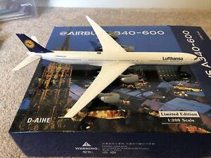1:200 Lufthansa A340-600 D-AIHE Diecast Phoenix Models PH2DLH021 With Stand