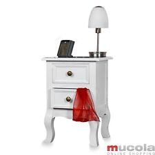 Landhaus Kommode Nachttisch Nachtschrank Schrank Weiß Tisch Shabby Nachtkonsole!