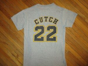 AUTOGRAPHED ANDREW MCCUTCHEN PITTSBURGH PIRATES JERSEY T SHIRT Adult SM Signed