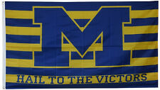 Michigan Wolverines Hail to the Victors 3x5 Ft Flag Banner Us shipper