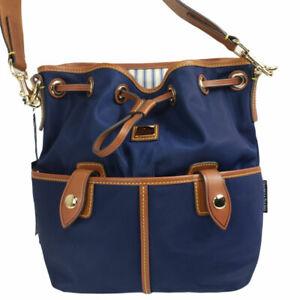 NWT DOONEY & BOURKE Wayfarer Shoulder Bag Drawstring Hobo Handbag Navy