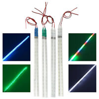 2Pcs COB 30cm LED DRL Car Strobe Flash Decoration Strip Knight Rider Light_ti