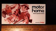 1970-71 Dodge - Motor Home - Original Owner's Manual- Excellent Condition - (Us)