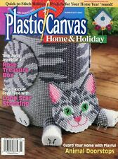 Plastic Canvas Home & Holiday July-August 2000, 17 plastic canvas patterns