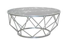 Couchtisch mit Eisengestell rund Wohnzimmertisch Sofatisch Tisch Antik Look Neu
