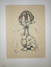 Pierre Daboval lithographie signée numérotée Art Abstrait surréaliste Erotic