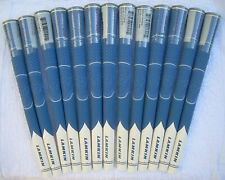 13 new-Lamkin Z5,  Blue/White colored, Men's Standard size golf grips, .60 Round