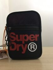 Superdry Lineman Sport Pouch - Navy/Red BNWT