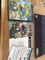 Mario Power Tennis (Nintendo GameCube, 2004) Case & Manual Only NO GAME DISC