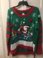 Women's Ugly Christmas Sweater  Santa Size S, M, L,XL NWT MSRP$50