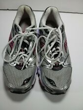 Womens Saucony Grid Stratos 5 Gray White Pink Running Shoes Size 9