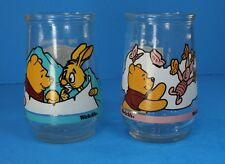 Disney Winnie The Pooh Welchs Jelly Jar Glasses Grand Adventure #3 & #5 LOT OF 2