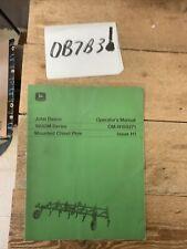 Original John Deere 1600m Series Mounted Chisel Plow Operators Manual