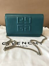 Givency $1250 Emblem Wallet on Chain.! Teal Leather.! NWT.!!