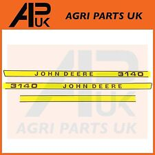 John Deere 3140 Tractor Hood Bonnet Decal Sticker Set Kit Emblem Transfers