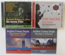 Sherlock Holmes Hörbücher CD Sammlung - 4 verschiedene CDs (Sir Arthur C. Doyle)