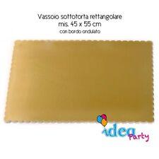 VASSOIO SOTTOTORTA Rettangolare 45 x 55 cm cartone dorato Piatto torta