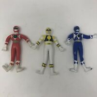 """Lot of 3 Mighty Morphin Power Rangers Bendable 5"""" Figure 1994 Gordy Toys vintage"""