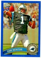 CAM NEWTON 2011 Topps Chrome BLUE Refractor Rookie Card RC 132/199 #1