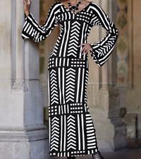 Ashro White Black Cleopatra Dress Ethnic African American Pride Size S M