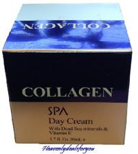 NEW sealed Spa Cosmetics Collagen Day Cream w/Dead Sea Minerals & Vit.E 1.7 oz