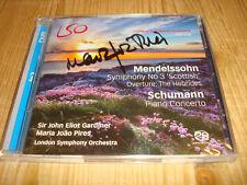 MARIA JOAO PIRES Mendelssohn Symphony 3 Schumann Piano Concerto BRA SACD Signed