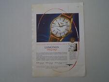 advertising Pubblicità 1958 OROLOGIO LONGINES FLAGSHIP